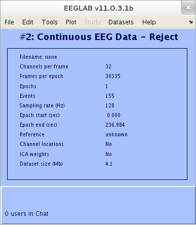ایجاد داده جدید در EEGLAB