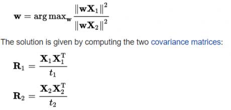 تابع هزینه در الگوریتم فیلترهای مکانی مشترک