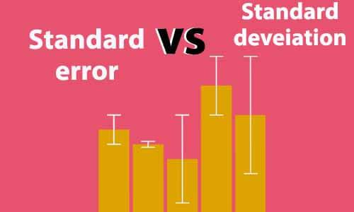 فرق بین خطای استاندارد و انحراف معیار