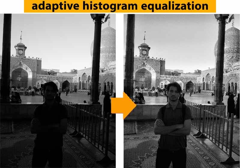 متعادل سازی سازگار هیستوگرام تصویر