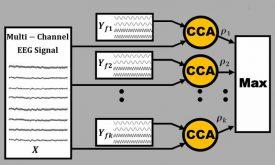 تشخیص فرکانس SSVEP با روش تحلیل همبستگی کانونی (CCA)